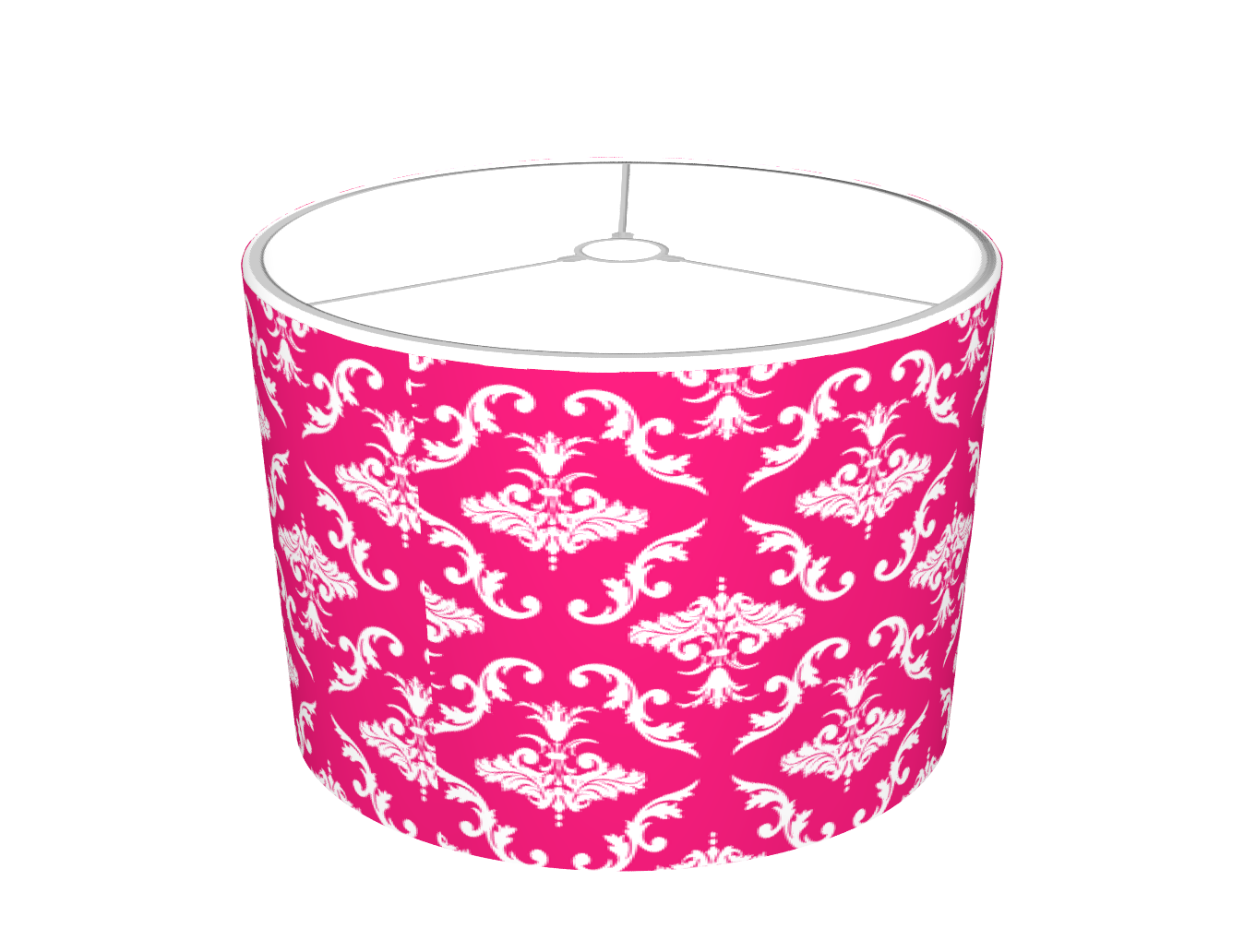 Pink And White Damask