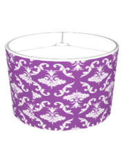 Purple And White Damask
