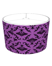 Purple And Black Damask