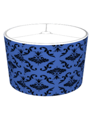 Blue And Black Damask
