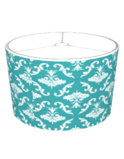 Teal And White Damask