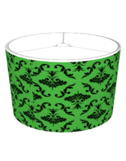 Green And Black Damask