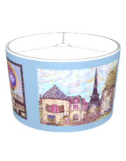 Paris & Eiffel Tower inspired art lampshade by Kristie Hubler