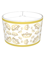 Queen of Hearts crown tiara lampshade by Kristie Hubler