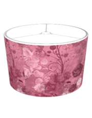 KRW Vintage Roses Layered Pattern Lampshade Burgundy