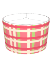 KRW Raspberry Lime Plaid Lampshade (Raspberry Lime Floral Series)