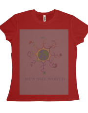 Run The World - Greyish Red