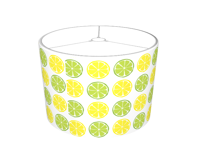 Summer Citrus Lemon/Lime Lampshade - Retro