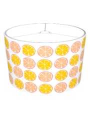 Summer Citrus Orange/Grapefruit Lampshade - Retro