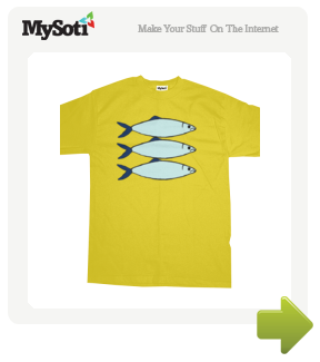 3 Fishes tee by louweaseldesigns. Available from MySoti.com.