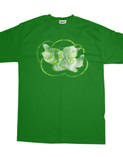 Kamikaze Kitten - kitten logo on green