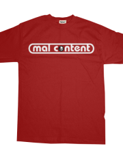 mal content - logo on red