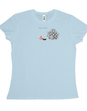 Mouse to Minx tea and cake women's T shirt blue