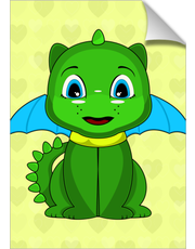 Green And Blue Chibi Dragon