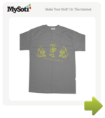Dancing Mythfits tee by Mythfits. Available from MySoti.com.