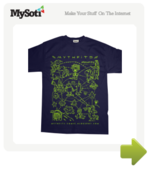 The Mythfits Universe tee by Mythfits. Available from MySoti.com.