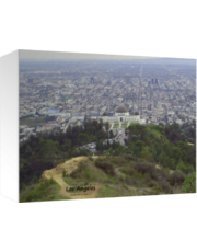 View of Los Angeles from Griffith Park Hiking Trails