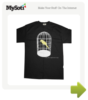 caged bird tee by nunley04. Available from MySoti.com.