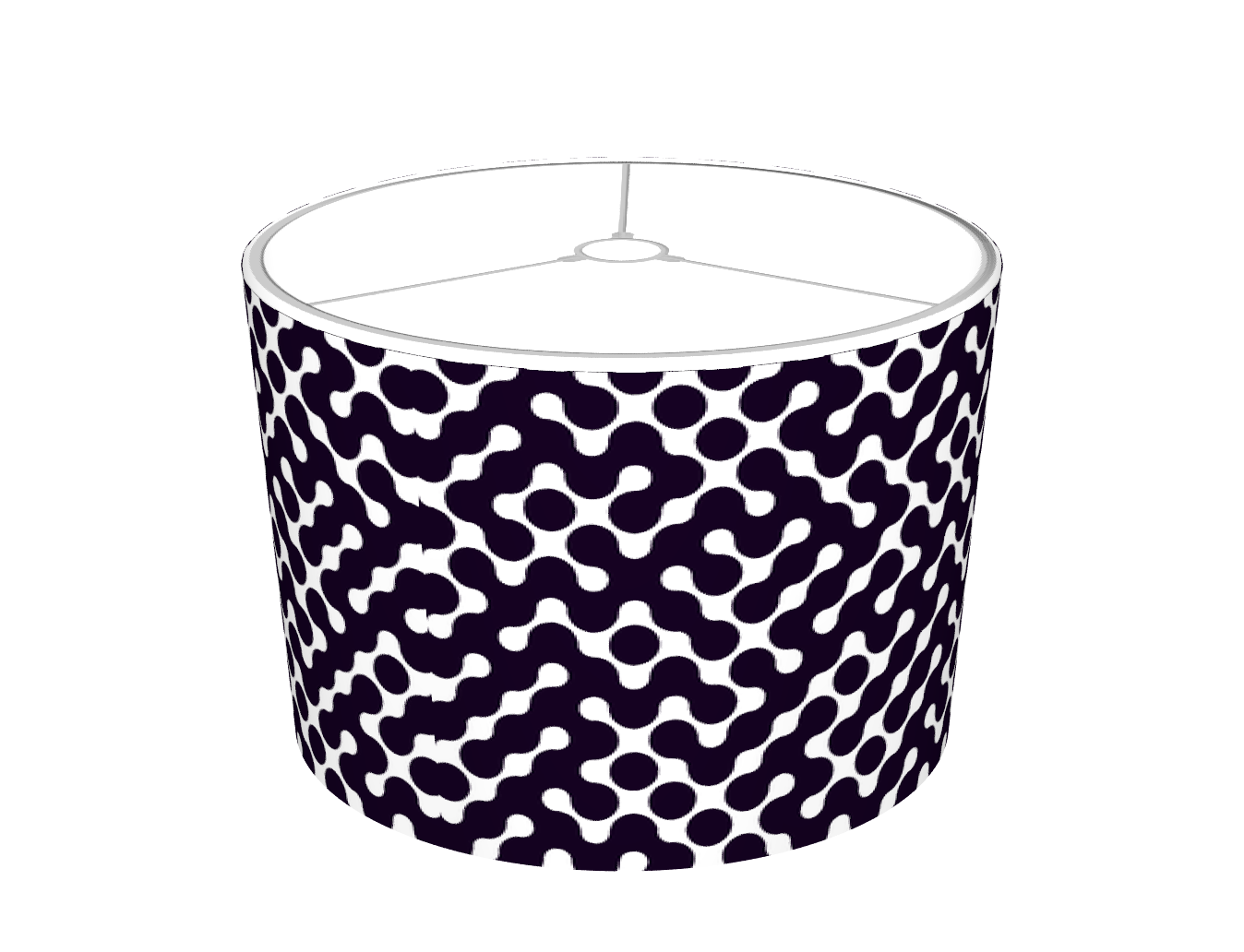 Black and White modern lampshade