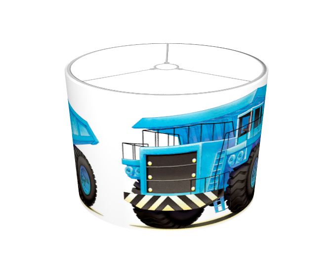 Big Blue Truck Lampshade