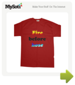 Firehose tee by Paz. Available from MySoti.com.