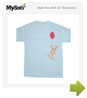 Fly away, little doggy. tee by PersonalGenius. Available from MySoti.com.