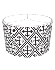 Black And White Medieval Pattern Lamp Shades