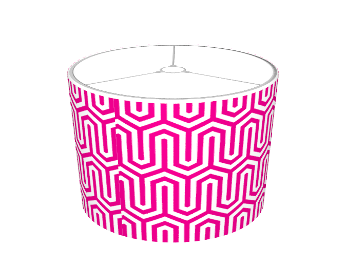 Hot Pink Egyptian Pattern Lamp Shades