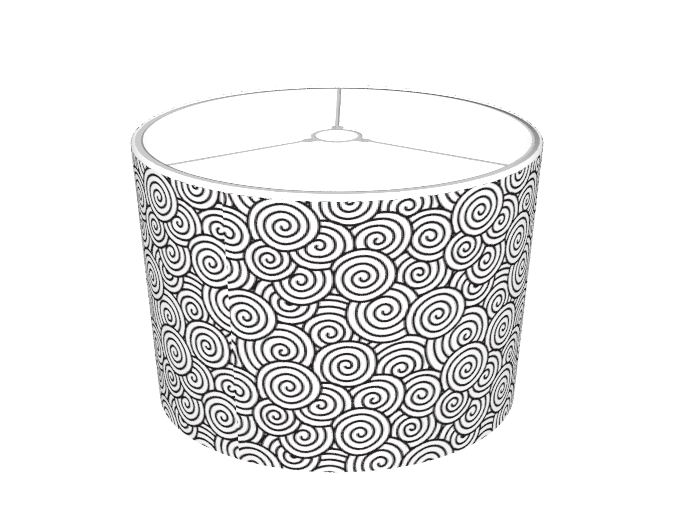 Black And White Spiral Pattern Lamp Shades