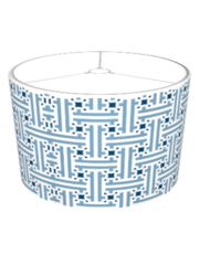 Chinese Fret Pattern Lamp Shades