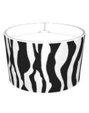 Zebra Print Animal Lamp Shades