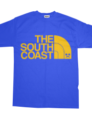*( Pompey Frown - The South Coast - Yellow On Blue