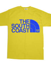 *( Pompey Frown - The South Coast - Blue On Yellow