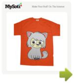 Moggy Moo tee by RachaelSmith. Available from MySoti.com.