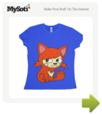 Foxy Roxy tee by RachaelSmith. Available from MySoti.com.
