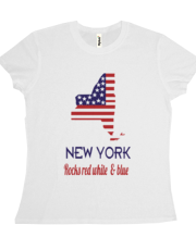 New York Rocks Red White & Blue