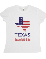 Texas Rocks Red White & Blue