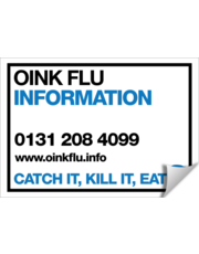 CATCH IT, KILL IT, BIN IT: Oink Flu Information line POSTER