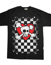Emo Skull Heart Checkers