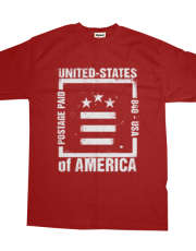 Postage Paid USA - RED