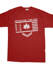 Postage Paid Canada - RED