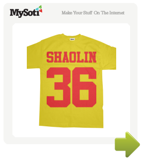 36 Chambers of Shaolin tee by Shaolinen. Available from MySoti.com.