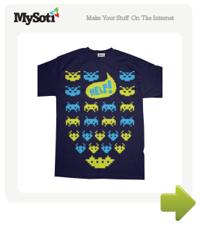 Personal Space Invaders tee by SirEuan. Available from MySoti.com.