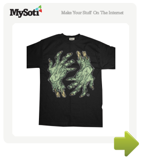 Green Hands of Doom tee by Skeleface. Available from MySoti.com.