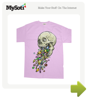 Spittin' Sweets tee by Skeleface. Available from MySoti.com.