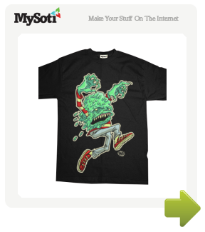 Melty Milton tee by Skeleface. Available from MySoti.com.