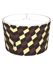 Slightly Off Argyle Brown & Yellow Lampshade