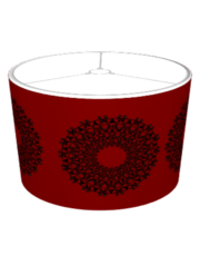 Radials on Red Lampshade