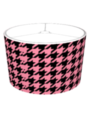 Pink Houndstooth Lampshade