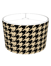 Black and Tan Houndstooth Lampshade